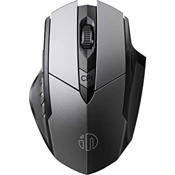 INPHIC Mouse Bluetooth, Mouse Wireless Bluetooth Ricaricabile Silenzioso Multi-Dispositivo (Tri-Mode: BT 5.0/3.0 + 2.4G), Mouse ergonomico Portatile 1600 DPI per PC Laptop, Android, Mac OS, Nero