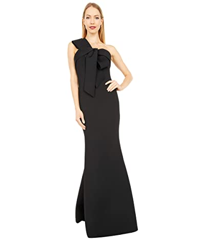 Badgley Mischka 3-D Bodice Drop Dress Women