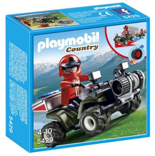 Playmobil Vida en la Montaña - Quad Rescate de montaña, Playsets de Figuras de Juguete, Negro, Rojo, 15 x 5 x 15 cm, (5429)