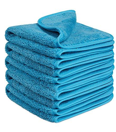 Fleischmann Microfasertuch 5 STK Blau I Reinigungstuch zur professionellen Autopflege I Trockentuch, Poliertuch und Handtuch I Premium Mikrofasertuch 40 x 40 cm I Speed