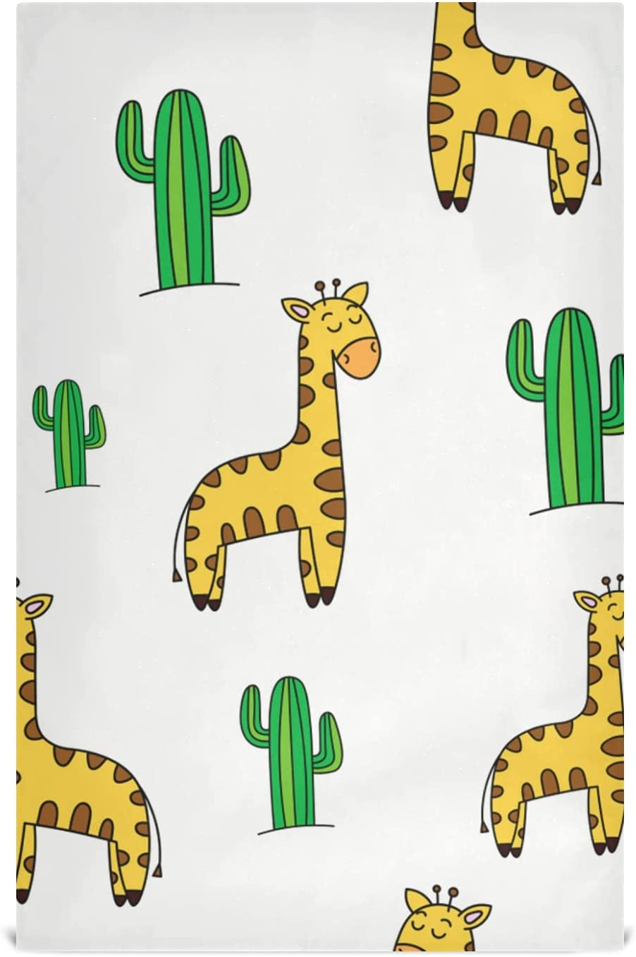 JIUCHUAN Kitchen Detroit Mall Austin Mall Dish Towel Set Giraffe Cactus Kit 6 Image