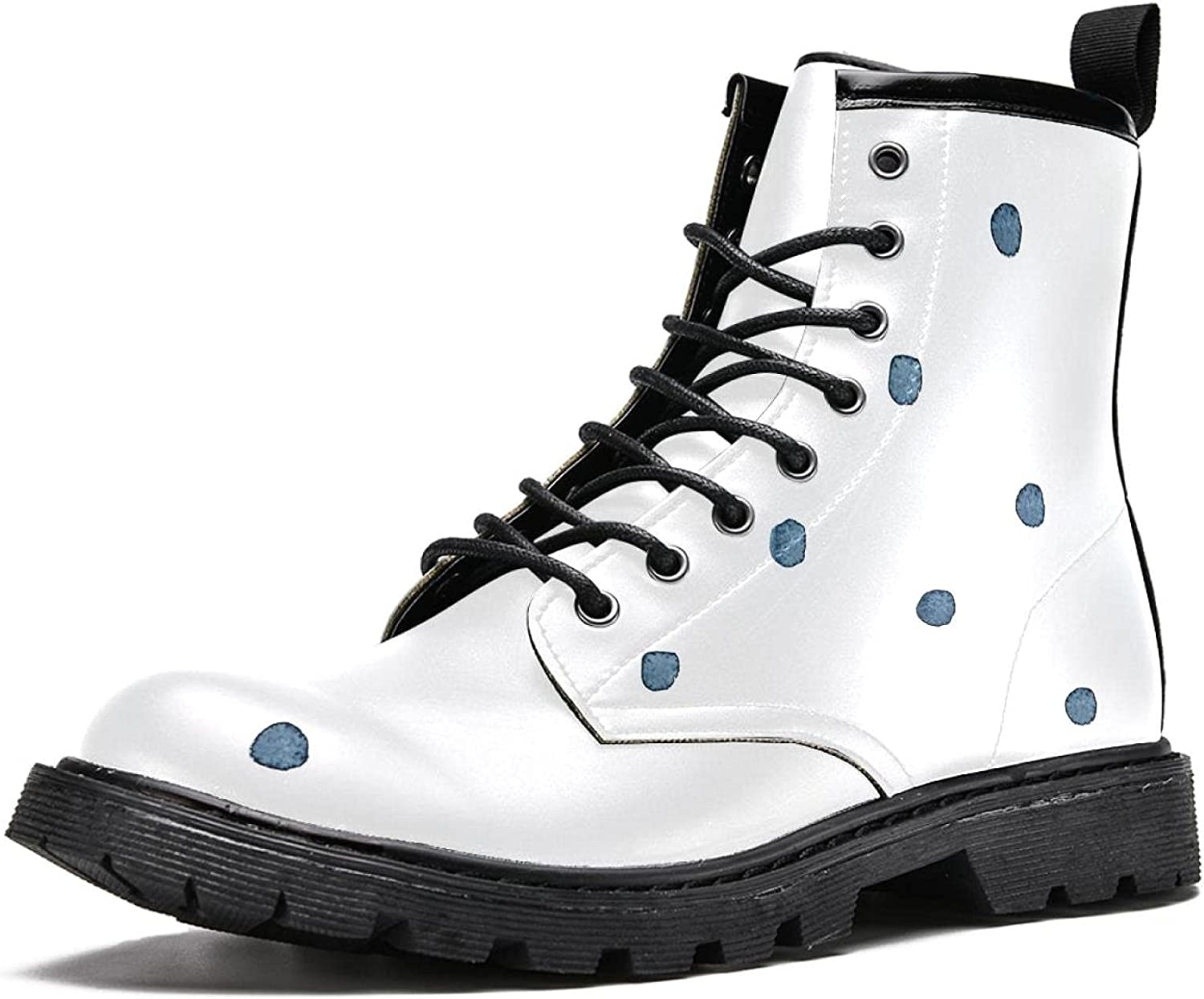 Blue dots Women's Stylish High Hiking Durable L Boots Dedication Max 63% OFF Top