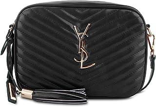 AUSTRY Designer Crossbody Bag with Tassel Quilted Shoulder Purse Leather Camera Bag Top Zipper
