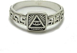 Anello da uomo in argento 925 Occhio della provvidenza R001784