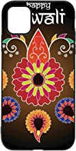 Lit lamp on Rangoli Pattern with Happy Diwali Text for Diwali Festival iPhone 11 Case,Vector jeffcyb for iPhone 11