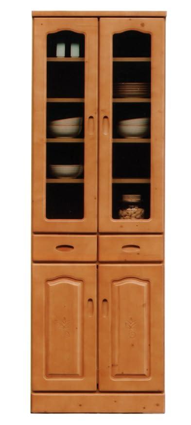 オーバードロー百年適合大川家具 nakakei カップボード トンパ 60cm幅 ナチュラル色