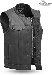 MEN'S MOTORCYCLE SON OF ANARCHY LEATHER VEST W/DUAL CONCEALED CARRY POCKETS (4XL)