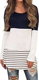 CASILY Women's Cold Shoulder Casual Tunic Tops