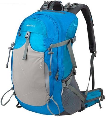 XUEYAN de plein air Sac à dos en plein air alpinisme sac épaule hommes et femmes camping sac de voyage sac de sport sac d'équitation 35 litres imperméable à l'eau