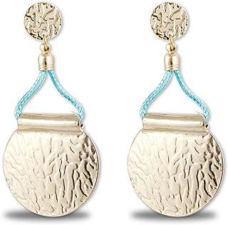 Karatcart Gold Texture Metal Earrings for Women