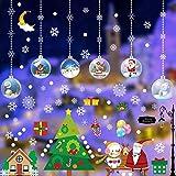 Flysee Navidad Pegatinas de Pared Calcomanías de Ventana de Copo de Nieve Pegatinas de PVC para...