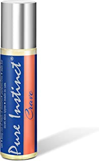 Pure Instinct CRAVE Roll-On The Original Pheromone Infused Essential Oil Perfume Cologne – For Her - TSA Ready 0.34 fl oz
