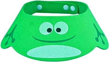 (Modell 2 grün) Duschhaube - Bad - Augenschutz - Ohren - Kinder - Weich - Einstellbar - Komfortabel - Bunt - Geschenkidee