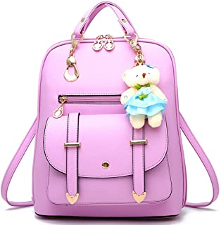 Backpack Purse for Women Large Capacity Leather Shoulder Bags Cute Mini Backpack for Girls,Purple