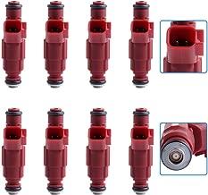cciyu Injectors, 1 Hole Fuel Injectors Set fit for Dodge Dakota/Durango/Ram 1500/Ram 1500 Van/Ram 2500/Ram 2500 Van/Ram 3500/Ram 3500 Van Compatible with 0280155934 Injector,8 Pieces
