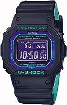 【Bluetooth & 電波ソーラー】G-SHOCK ジーショック CASIO カシオ GW-B5600BL-1 タフソーラー マルチバンド6 ブラック ネオンパープル スマホ連動 電波時計 スマートウォッチ ボーイズサイズ メンズ 男性用 ユニセックス スクエア 四角 スピードモデル スマートフォン [並行輸入品]