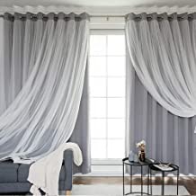 Blackout Curtains for Bedroom & Living Room - Thermal Insulated with Grommet, Soft Touch Tulle, Privacy Protect, Room Darkening Drapes 2 Panels W52xL63 Grey