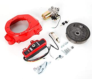 HYYKJ Electric Start Kit Fit for Honda GX160 5.5HP GX200 6.5HP Starter Motor with Solenoid FlyWheel Switch Charging Coil Ignition Fan Cover