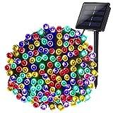 Joomer Solar Christmas Lights 72ft 200 LED 8 Modes Solar String Lights Waterproof Solar...