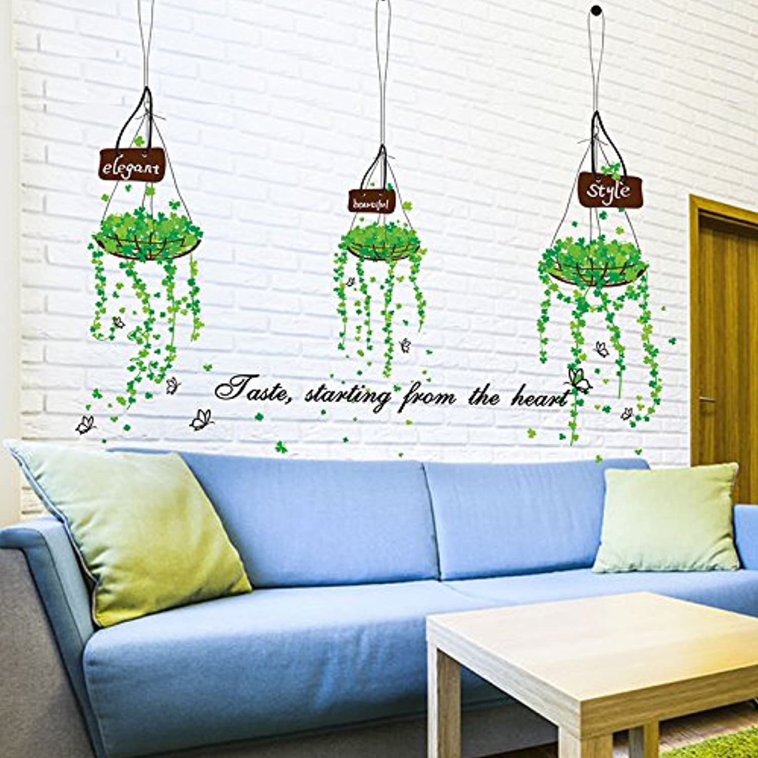 Znzbzt The Elegant and Fresh Wall Sticker Wall Art Simple and Innovative Decor self Adhesive Wall Painting, Basket