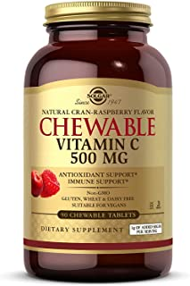 Solgar – Vitamin C 500 mg, 90 Chewable Tablets – Cran Rasberry Flavor