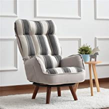 LJQLXJ divano Arm Chair Home Living Room Furniture Reclining Folding Armchair Sofa Low Swivel Chair For Elderly,Colorful Grey