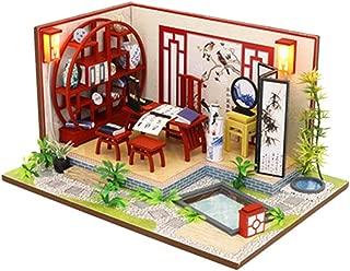 Joykith- DIY House-DIY Mini Cottage Hand-Assembled Creative Model China Style, Study Room Dolls House Handcraft Miniature Kit, House Model Furniture Building Blocks Gift Toys