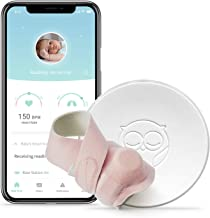 Owlet Smart Sock Baby Monitor + Owlet Accessory Sock Pink 3 Sizes (0-18 Months) - Track Your Infant's Heart Rate & Oxygen Levels - The Ultimate Baby Monitor for Peace of Mind