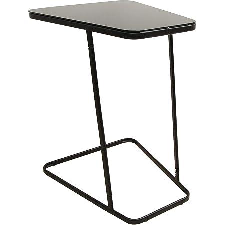 Marque Amazon - Movian Kyyvesi Table d'appoint à plateau en verre, 50x43,5x62,5cm