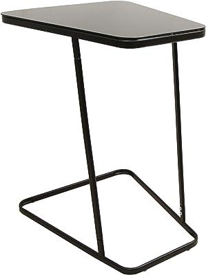 Marchio Amazon - Movian Kyyvesi - Tavolino laterale, 50 x 43,5 x 62,5 cm, ripiano in vetro