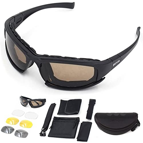 4c43313d81a ZHIYIJIA Sports Sunglasses Polarized Motorcycle Goggles Padded Strap UV 4  interchangeable Lens For Men Women Bicycle