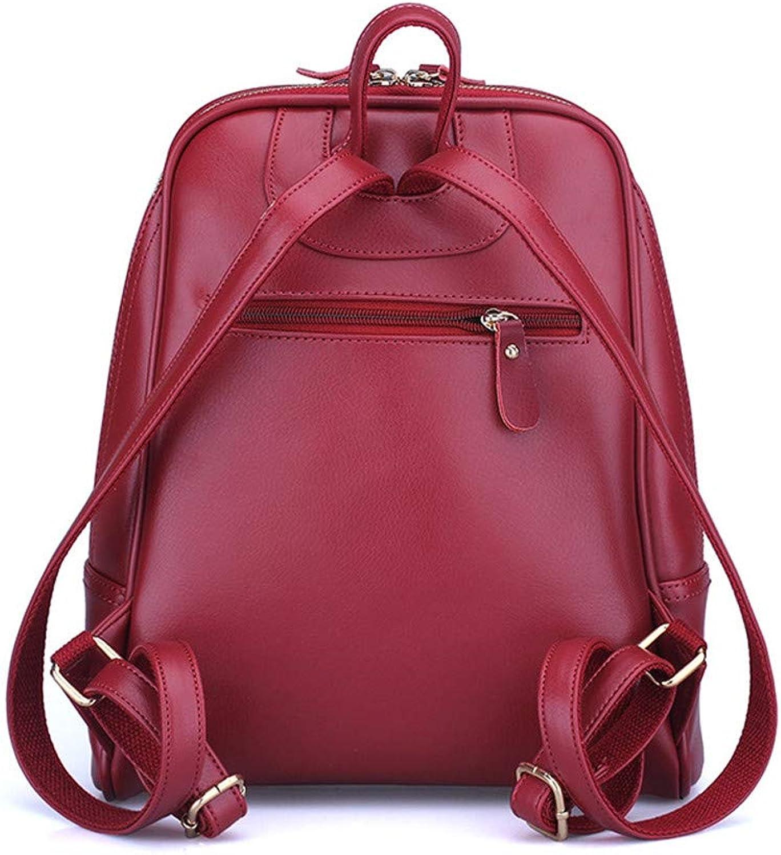 Canness-Woherren backpack Lady Bags Rucksack Geldbrse Casual Rucksack Leichter Rucksack für Mnner Frauen, Arbeit (Farbe   Rot)
