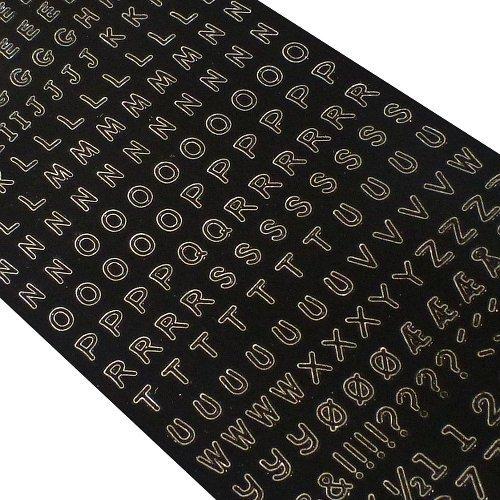 Hobbydots LC Letters cijfers (121001 2229) – zwarte decoratieve sticker