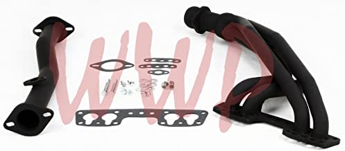 Black Coated Performance Exhaust Header System For 90-95 Toyota Pickup/4-Runner 2.4L 22RE.4WD ONLY