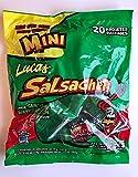 Mini Lucas Salsagheti Watermelon Flavor with Gusanos Tamarind Flavor Sauce, Fun Size0.49 oz, 20 package box