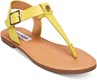Womens Skylar Leather Open Toe Casual, Yellow Leather, Size 8.0