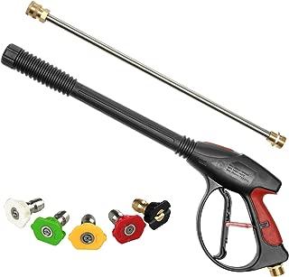 Sooprinse High Pressure Washer Gun Power Spray Gun 4000psi with 19 inch Extension..