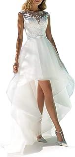 Spitze hochzeitskleid kurz Kurze Brautkleider