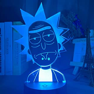 Rick and Morty 3D Led Night Light for Kids Bedroom Decorative Light Baby Child Nightlight Gift Color Changing Room Lamp 3D...