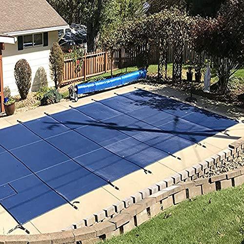 Poolabdeckung/Solarplane Pool/Solarabdeckung Blau Rechteckige Sicherheitsabdeckung Im Bodenpool Für Terrassenschwimmbäder Im Freien, Einfache Installation, Einschließlich Aller Benötigten Hardware