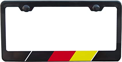 International Tie License Plate Frame, Made with High Grade 304 Stainless Steel (Black German)