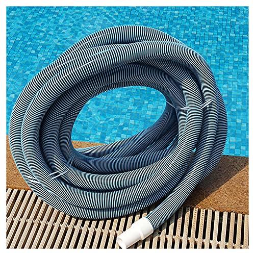 OVBBESS Manguera para Piscina,Manguera en Espiral de 5/15/30 m,Resistente a los Rayos UV,Resistente al Cloro,Flexible,para Bombas de Piscina y Sistemas de filtración 1.5 in/2 in