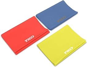 TKO Resistance Bands Set - 3 Pack - Flat Elastic Exercise Gear for Women, Men - Fitness, Workout, Light, Medium, Heavy Levels