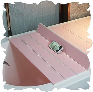 LIQICAI PVC風呂ふた 折り畳み 保温カバー 抗菌浴室フタ カビ防止ソークバス ストレージ 軽量 無臭 (Color : Pink, Size : 70x110x6cm)