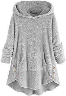 Sudaderas de Mujer Sudadera con Capucha Jerséis Casuales Pullover Cómodos Flojo Chaqueta Jersey Caliente Suéter Ropa de In...