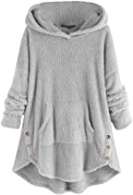 MEEYA Womens Cat Embroidery Plus Size Coat for Winter, Warm Hoodie Thick Pullover Sweatshirt Blouse