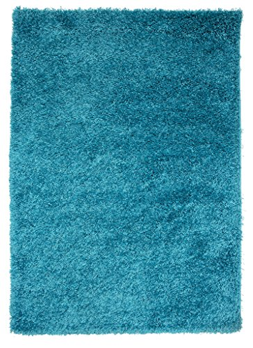The Rug House Soft Non Shed Thick Plain Easy Clean Shaggy Rugs Ontario - 16 Colours and 8 (Teal 60x110cm)
