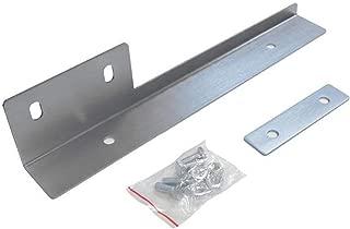ICBEAMER Silver Universal Front Aluminum Bumper License Plate Mount Relocator Frame Bracket Holder Bar -Drilling Require