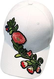 Womens Baseball Cap Couple Applique Floral Unisex Snapback Hip Hop Flat Hat