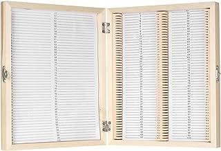 KKmoon 標本ケース 顕微鏡スライド収納ボックス 木製収納ケース 100枚入り プレパラートボックス コンテンツシート